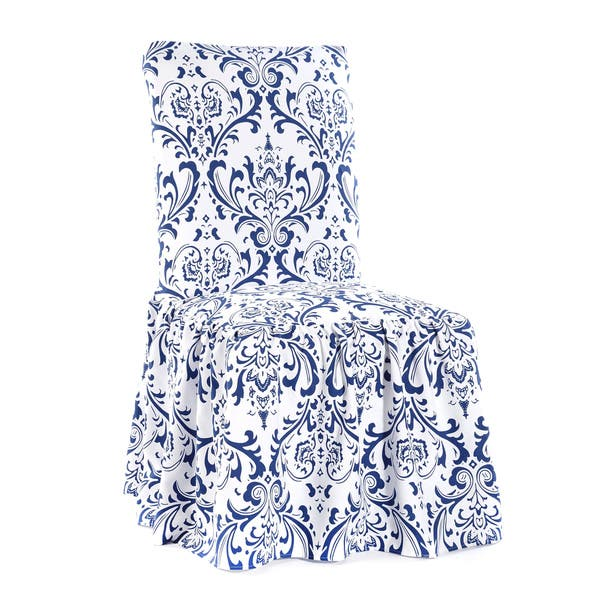 damask dining chair slipcovers