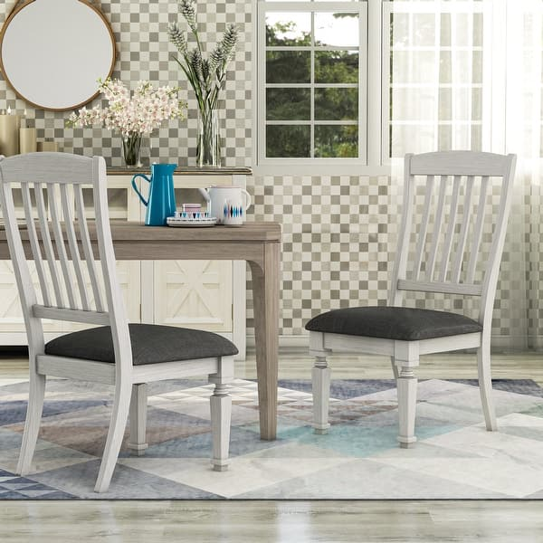 overstock white dining chairs