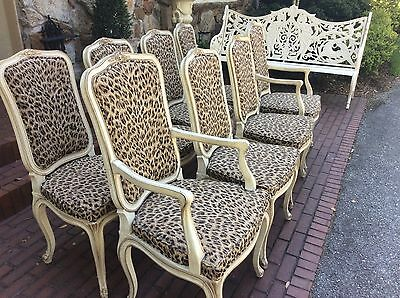 leopard dining room chairs