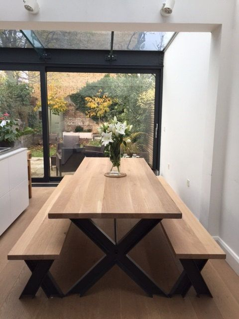 bench and dining table