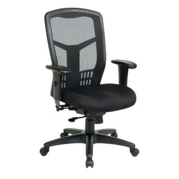 office star furniture progrid mesh manager's chair black