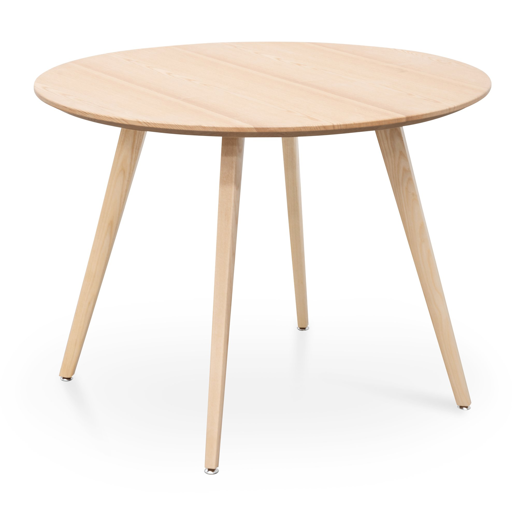 Halo 100cm Round Wooden Dining Table Natural Interior Secrets