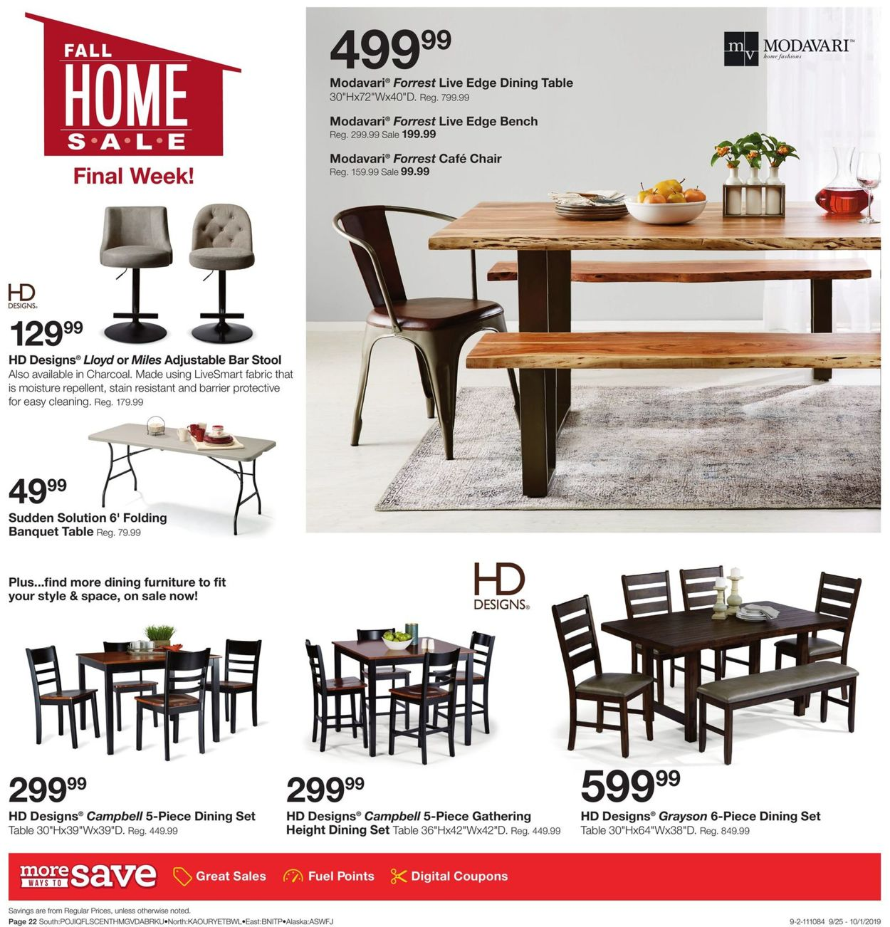 fred meyer dining room chairs