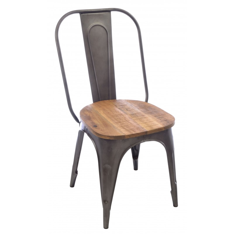 industrial style metal dining chairs