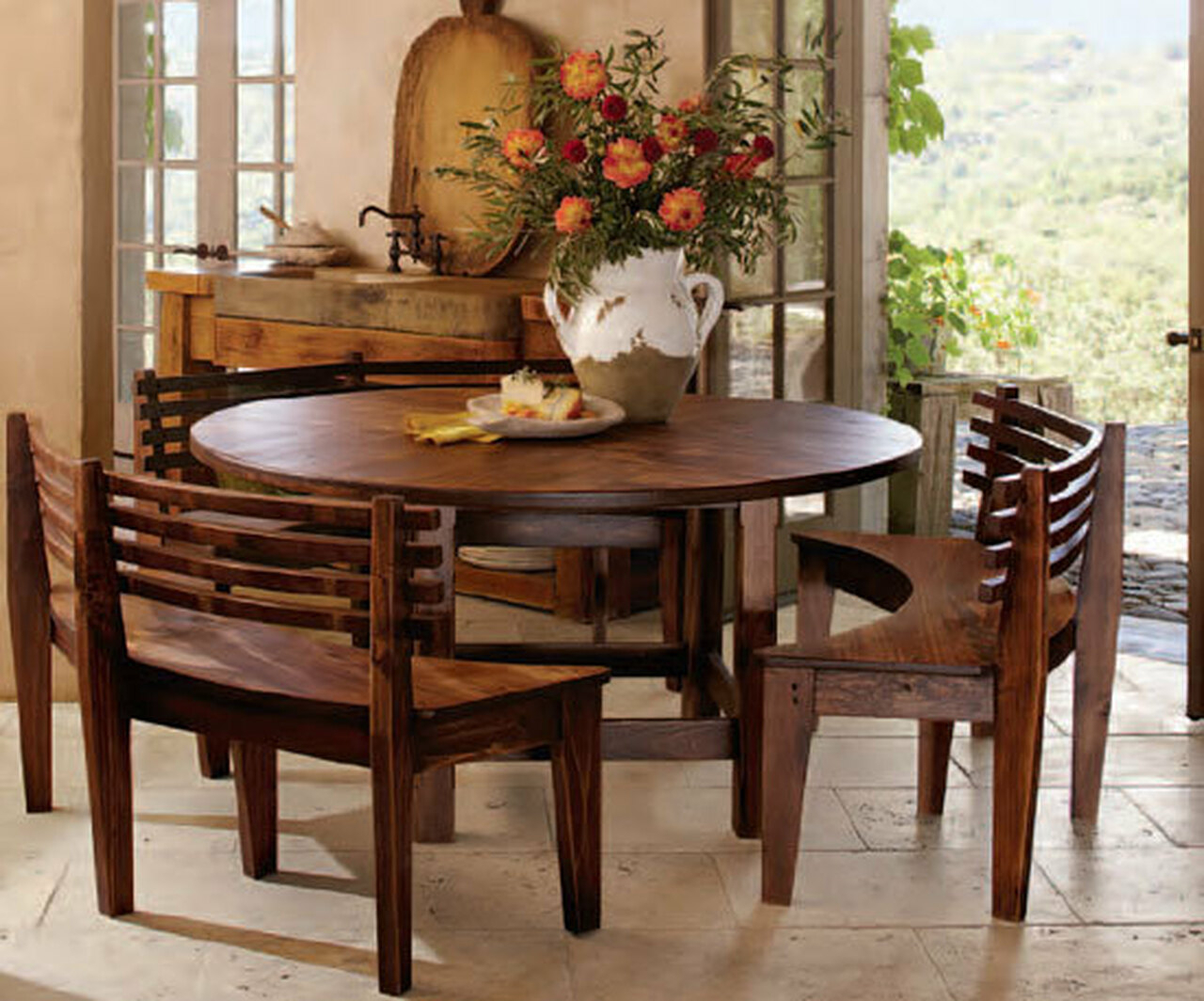 small round dining table for 2