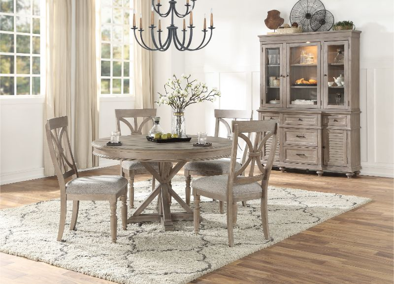 driftwood finish dining table