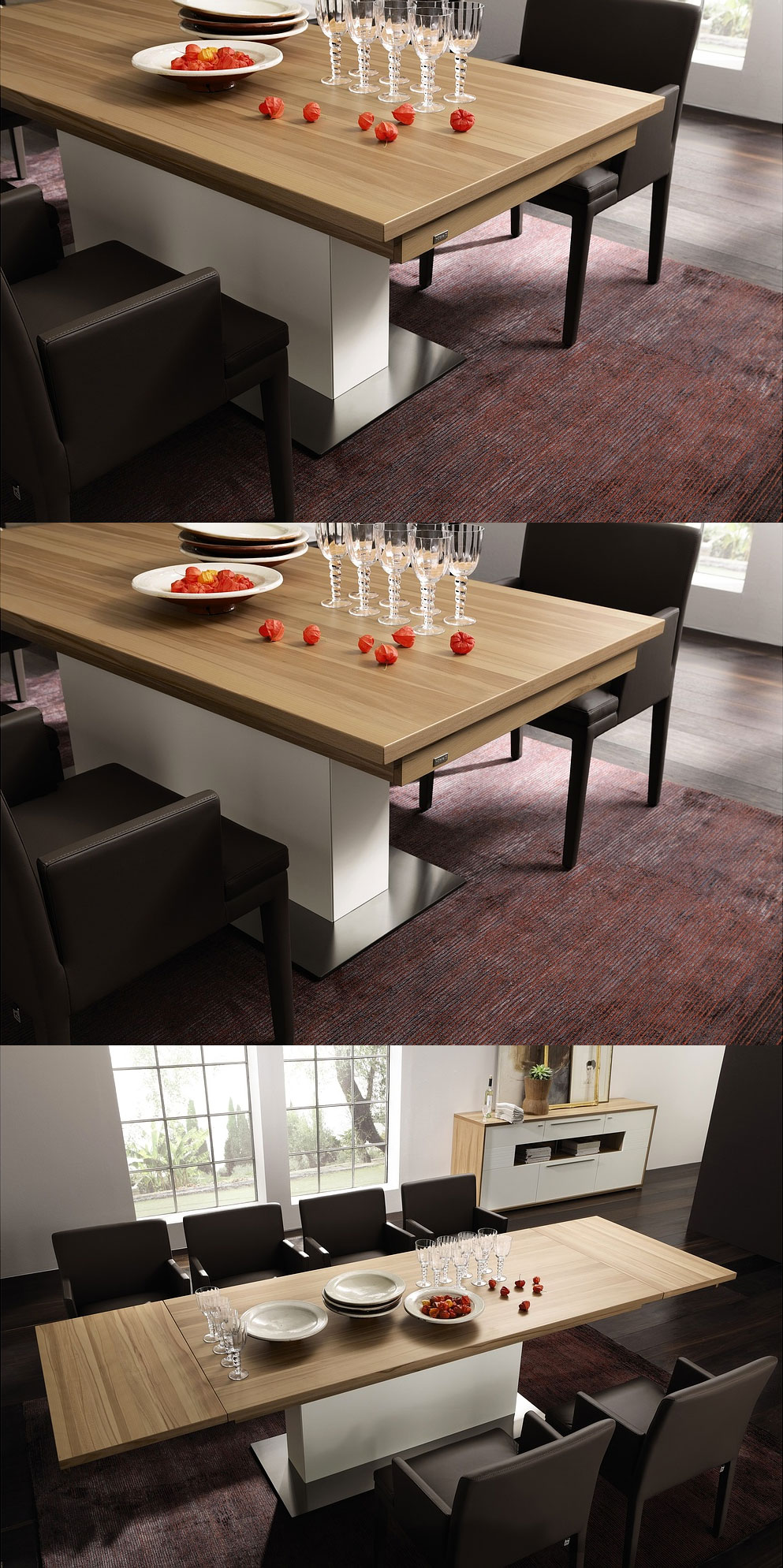 sofa table converts to dining table