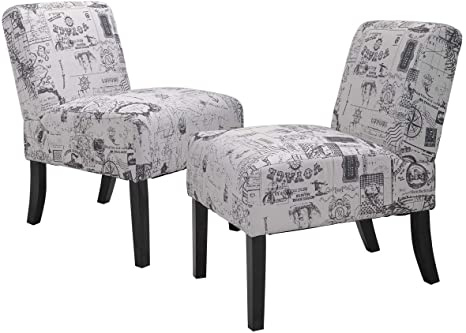 french script dining chair