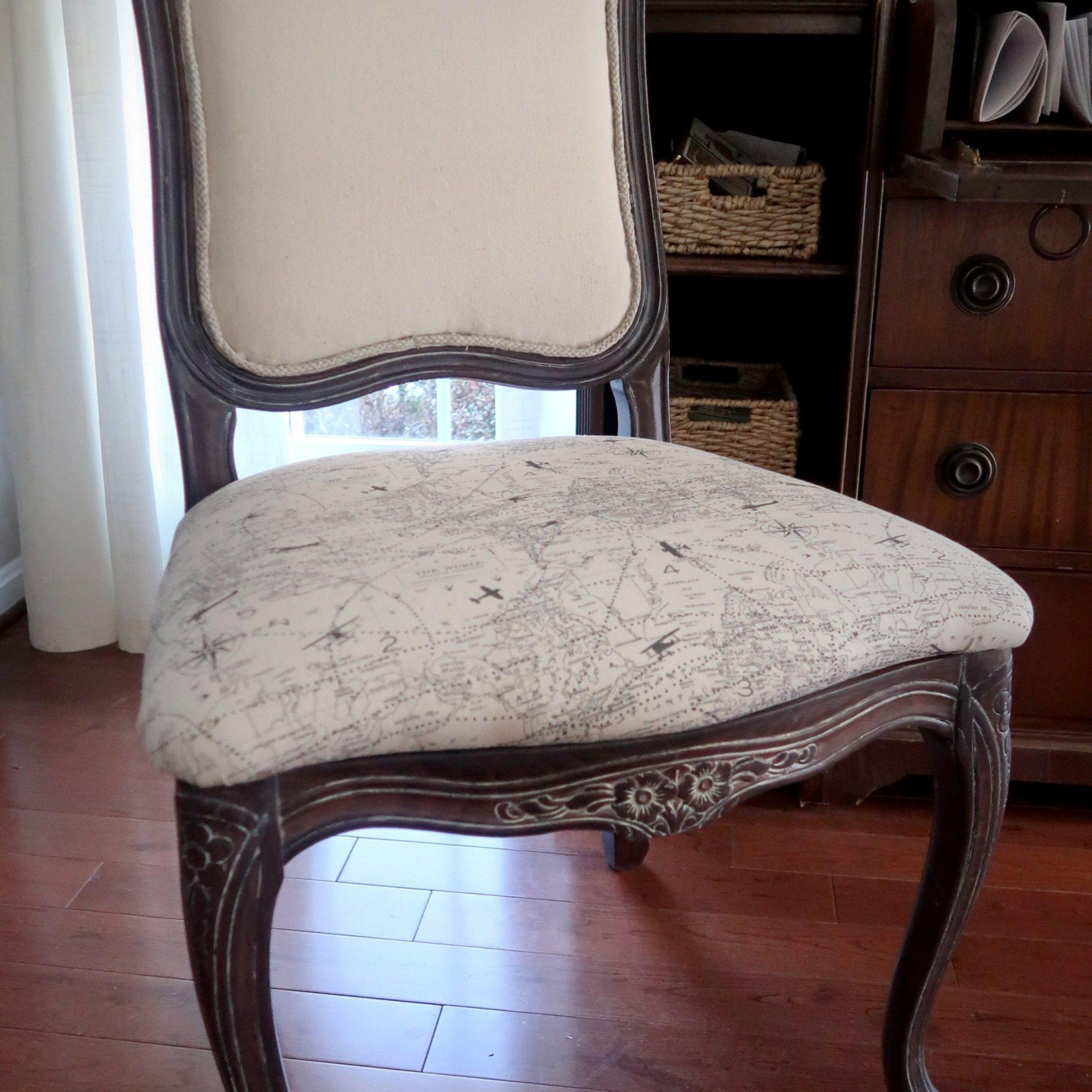 reupholster dining room chair padded back