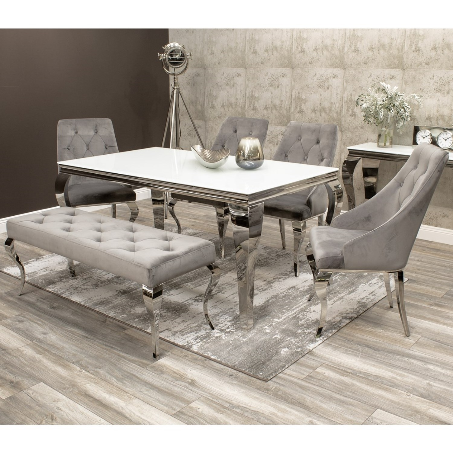 dining table chairs and bench set