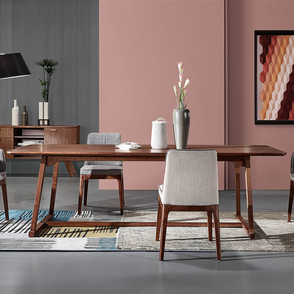 big wood dining table