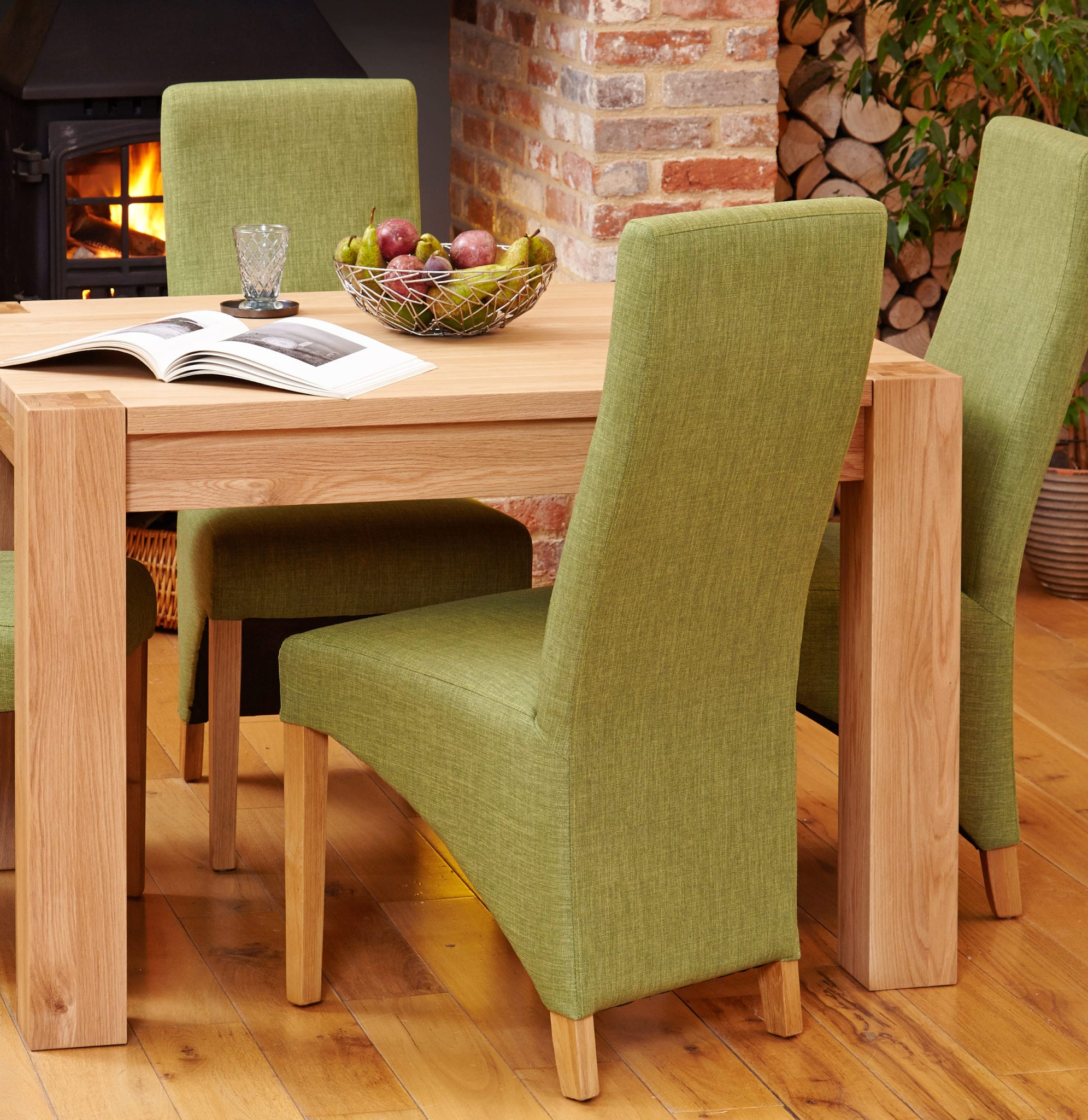 oak upholstered dining chairs