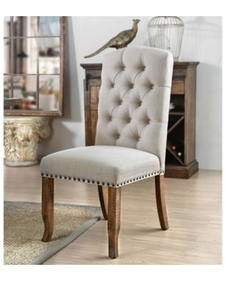 ivory fabric dining chairs