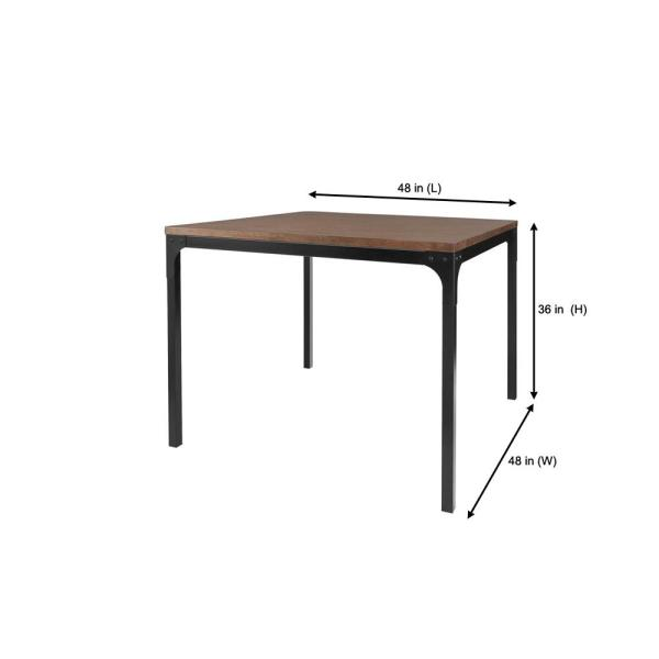 height of dining tables