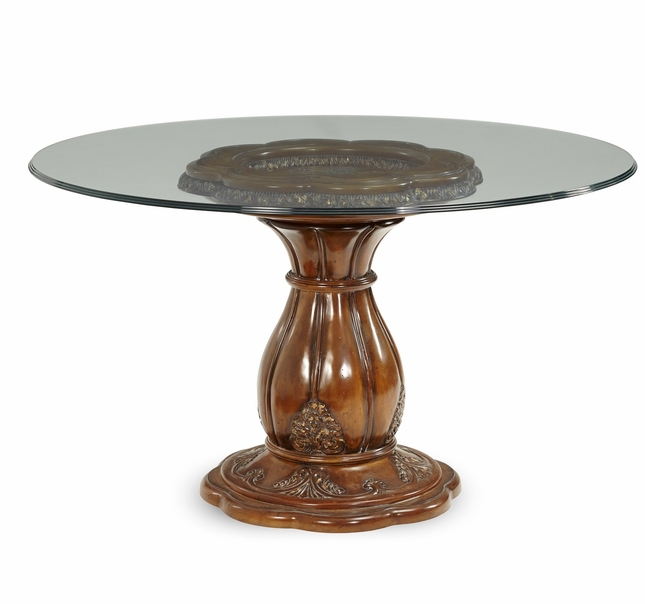 42 inch round glass top dining table