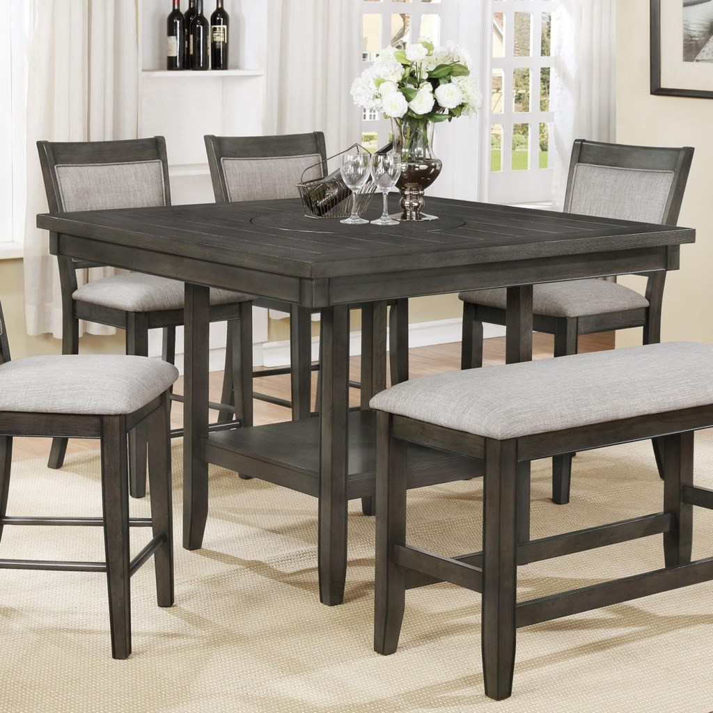 pub style dining table with 6 chairs
