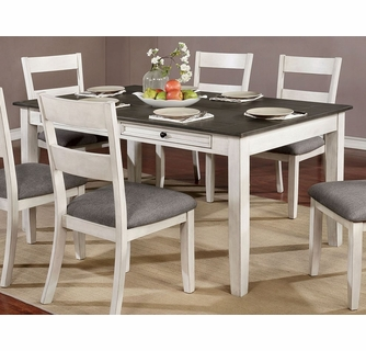 white wood dining table and chairs