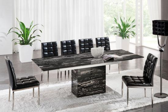 extendable marble dining table