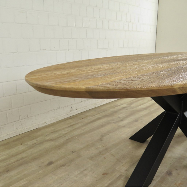 oval dining table for 10