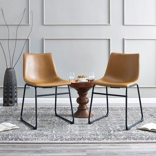 faux leather dining chairs for sale