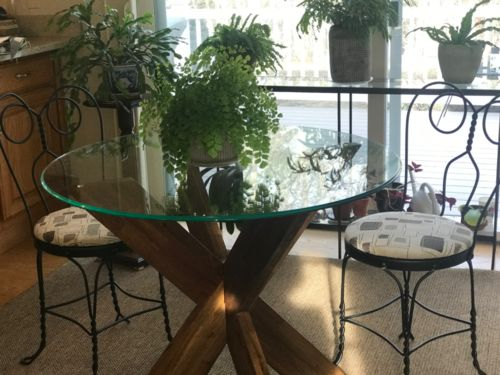 pier one glass top dining table