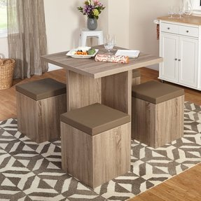 dining room table with storage underneath