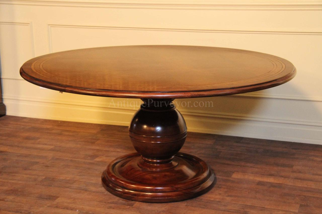54 inch round dining table with leaf
