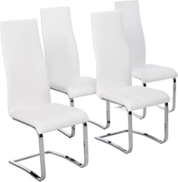 contemporary white dining chairs