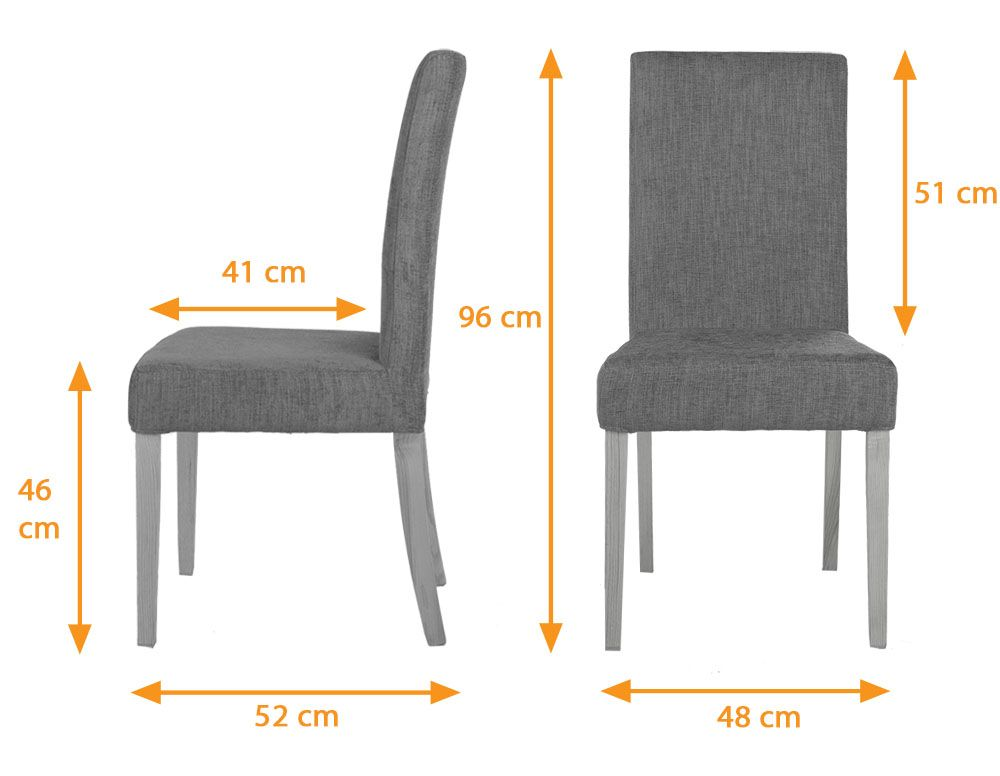 dining table chair dimensions cm