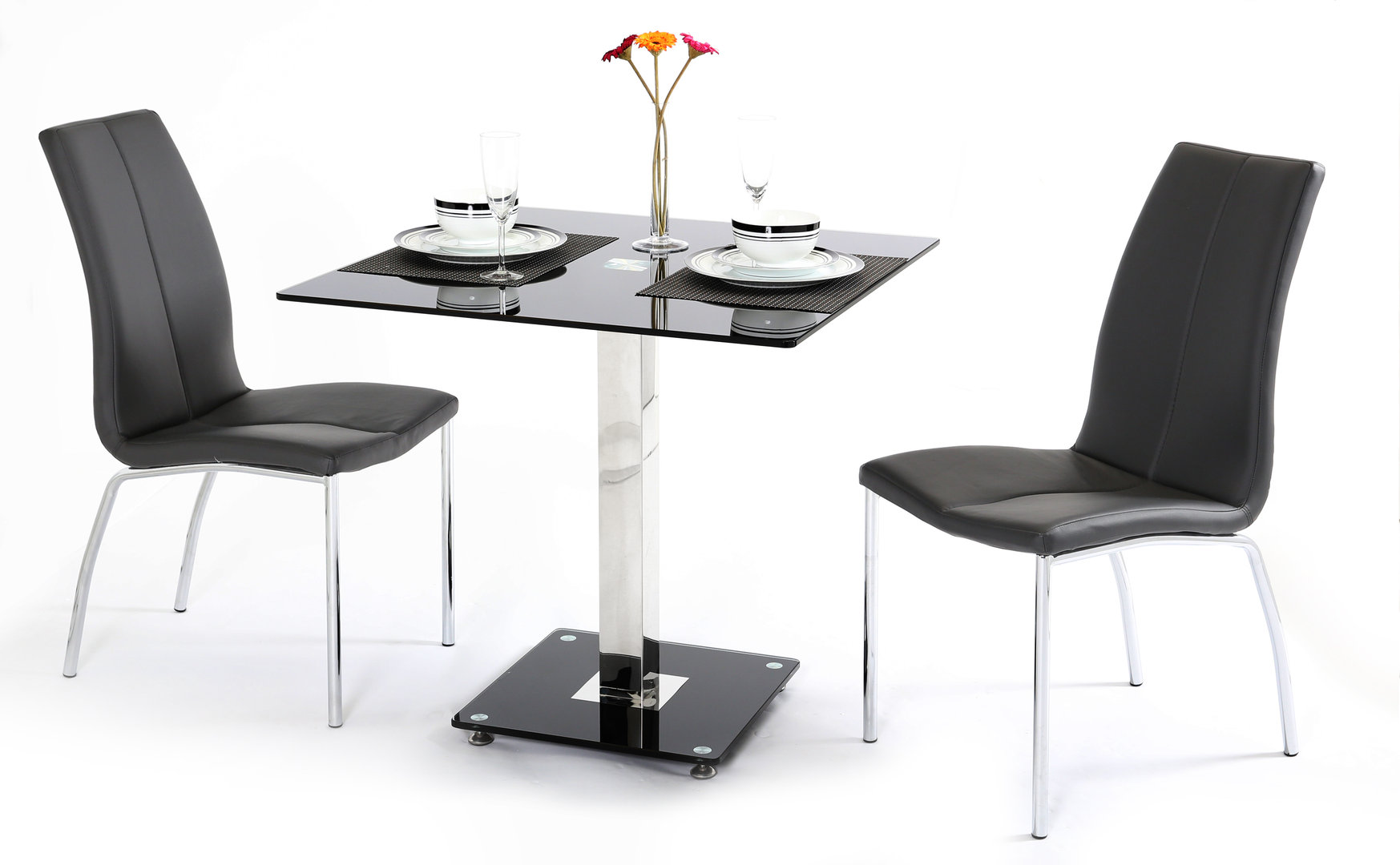 small glass dining table 2 chairs