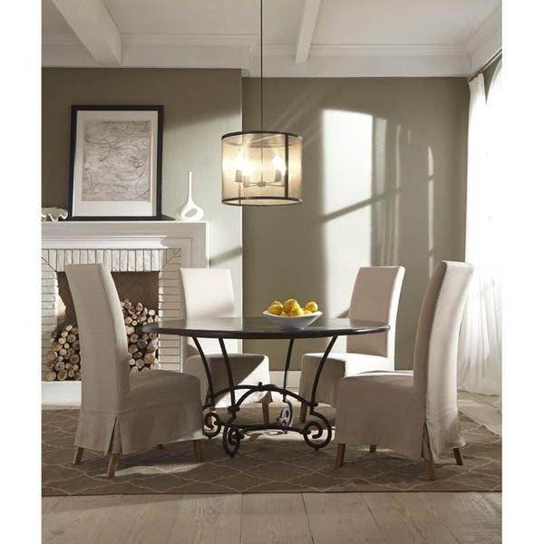 skirted parson dining chairs