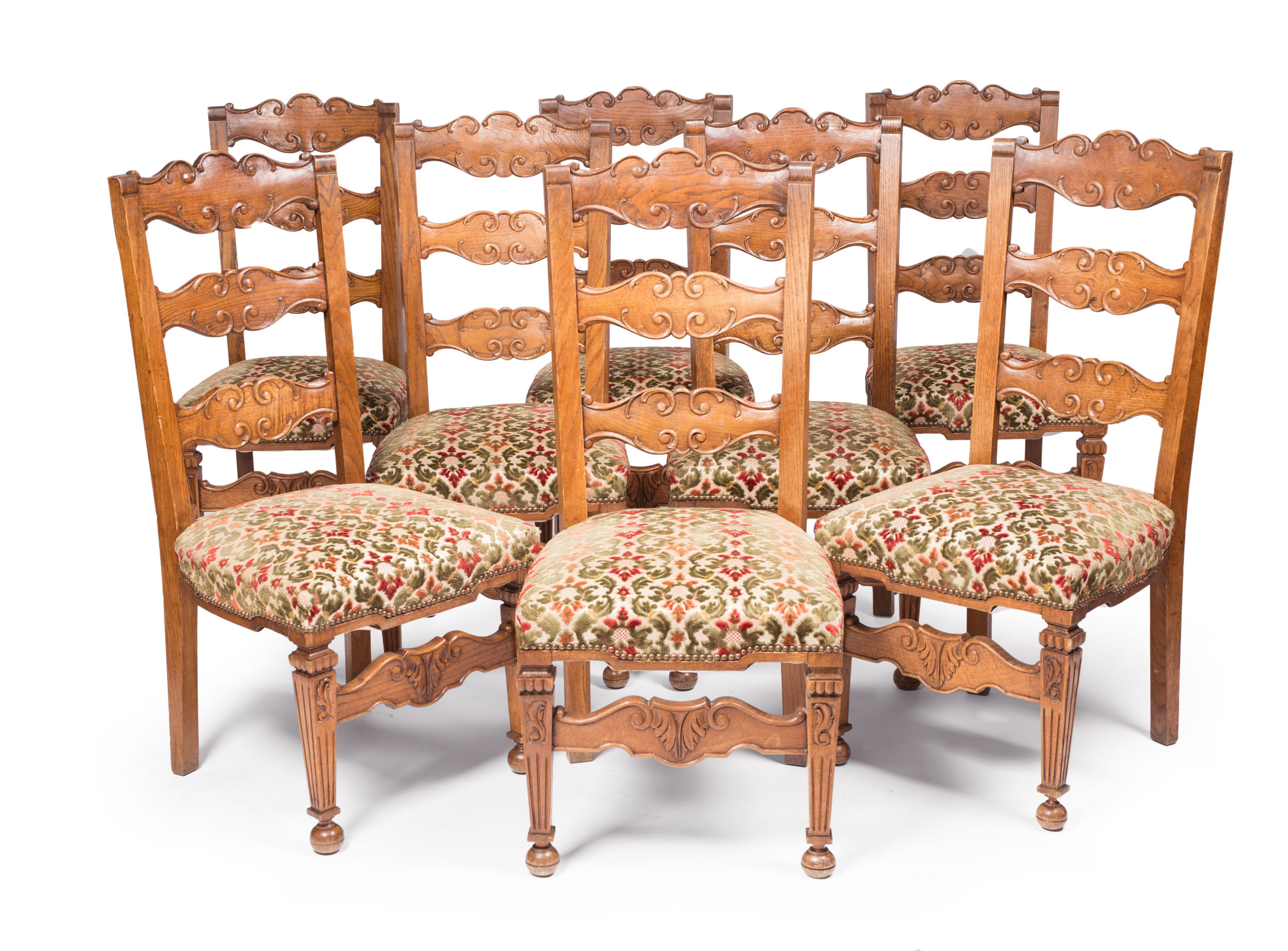french ladder back dining chairs