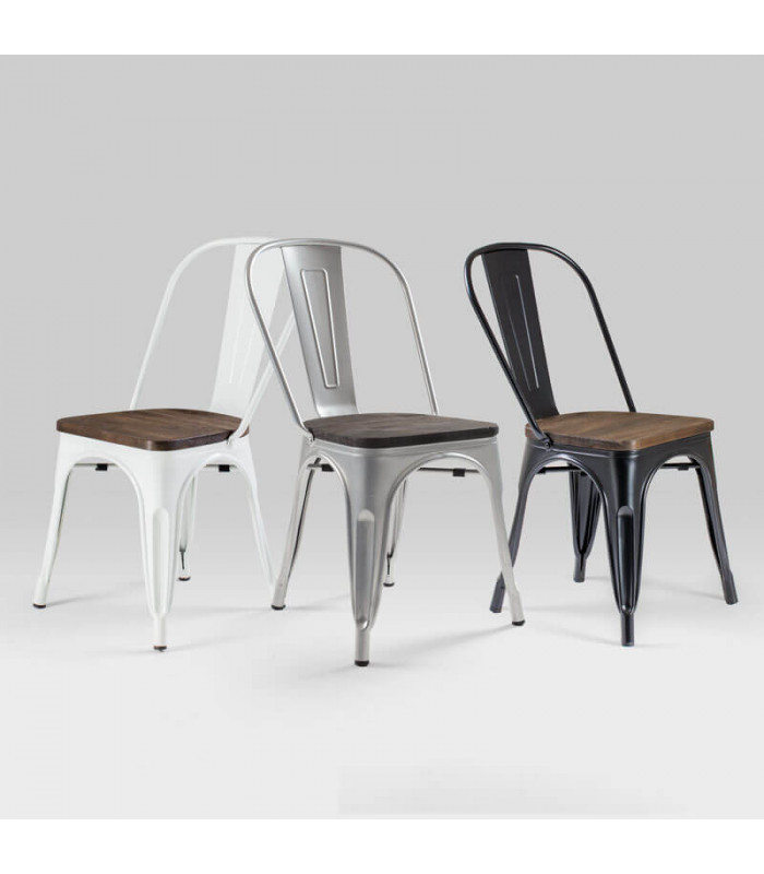white metal dining chairs