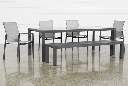 contemporary outdoor dining table