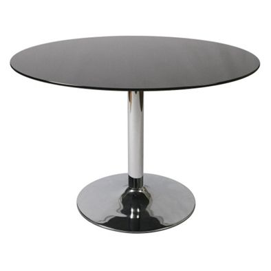 black glass oval dining table