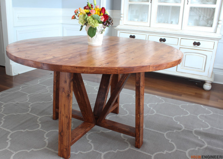 how to build a trestle dining table