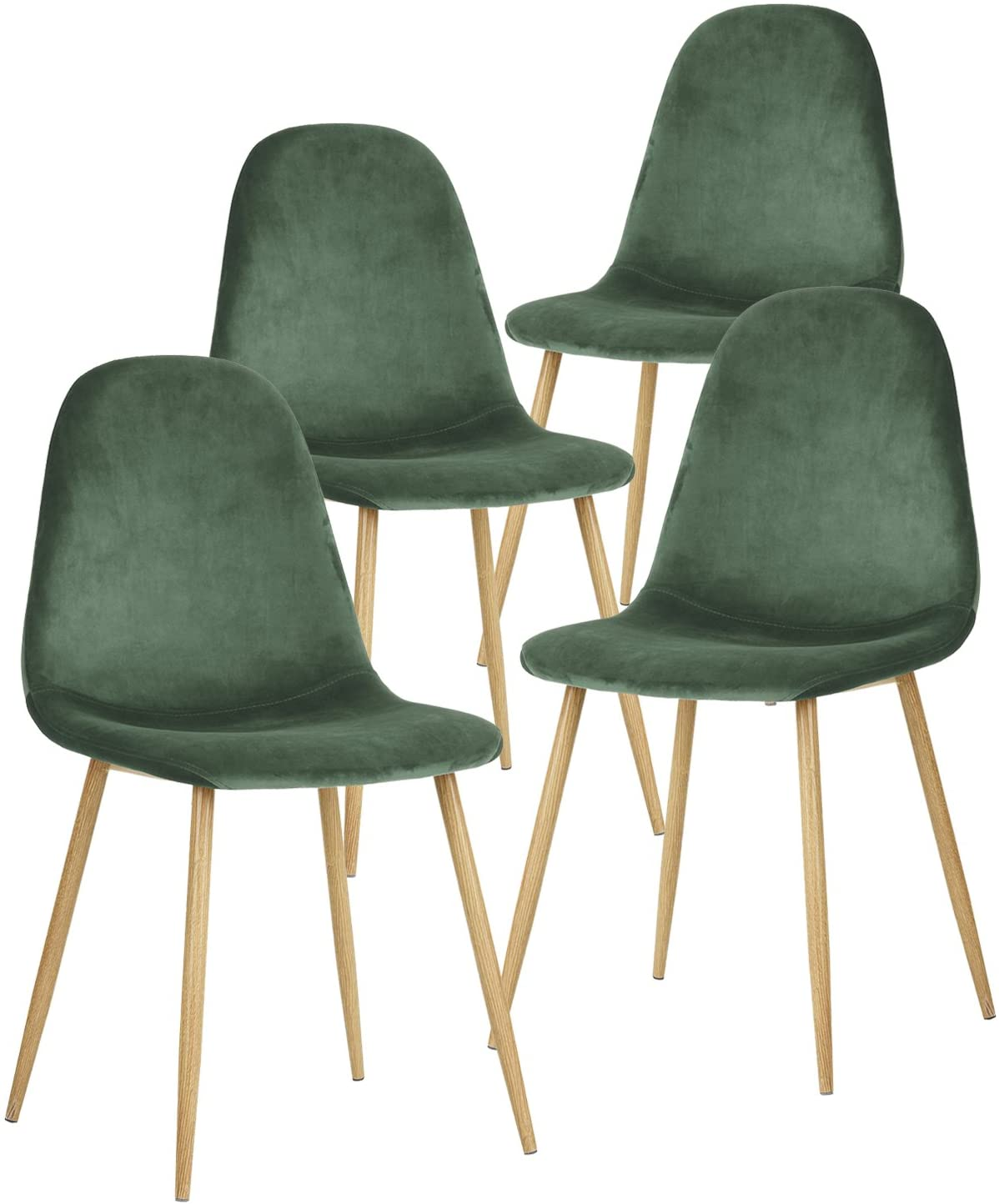 green wood dining chairs