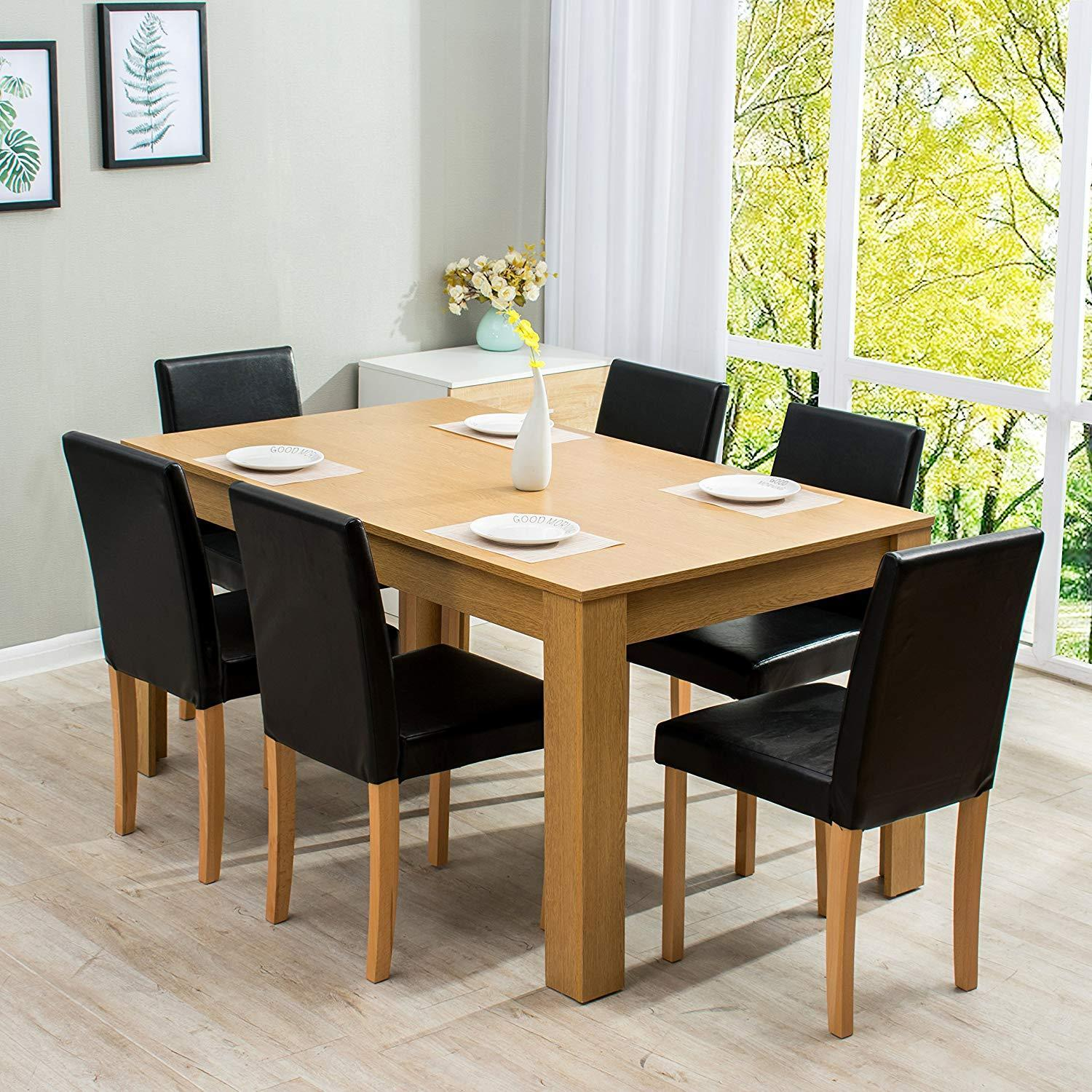 cheap dining table and 6 chairs