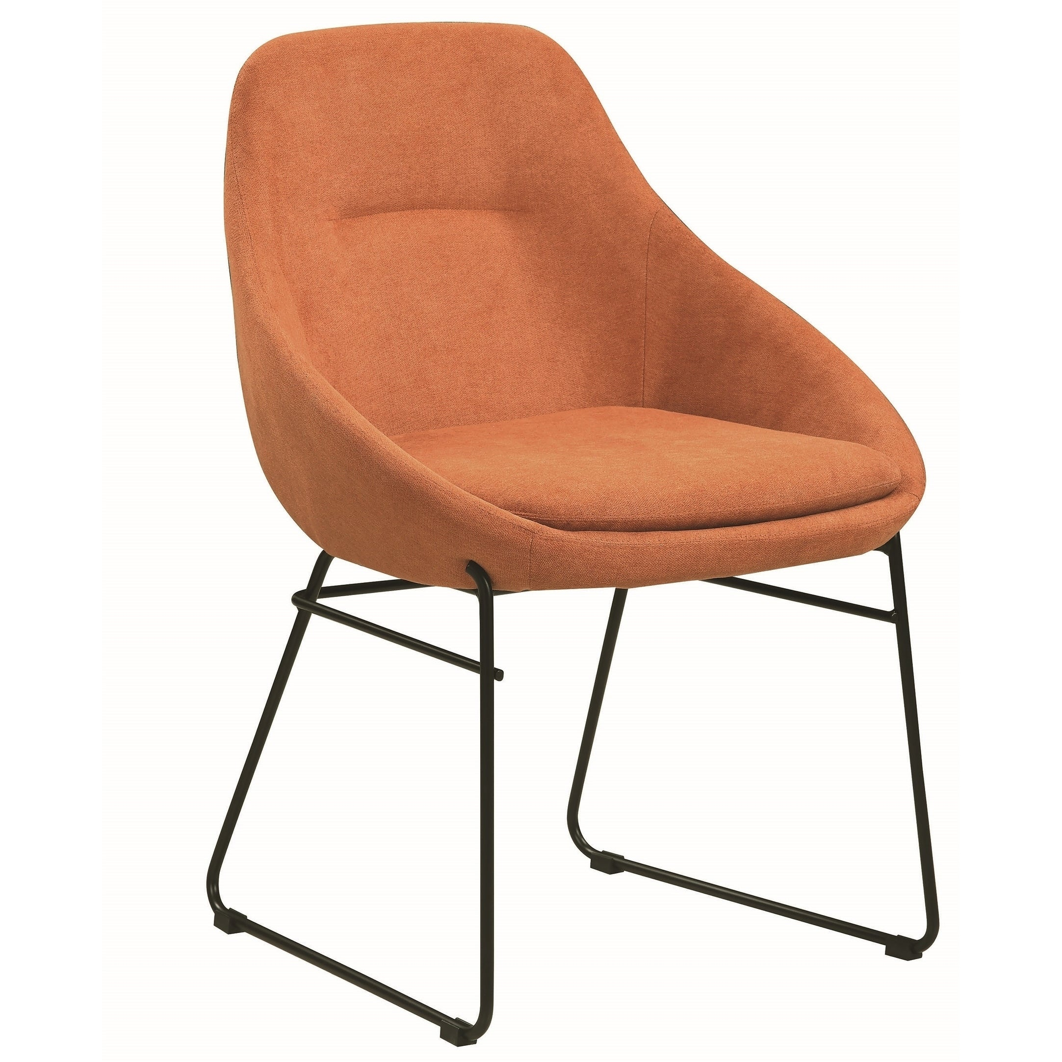 orange upholstered dining chairs