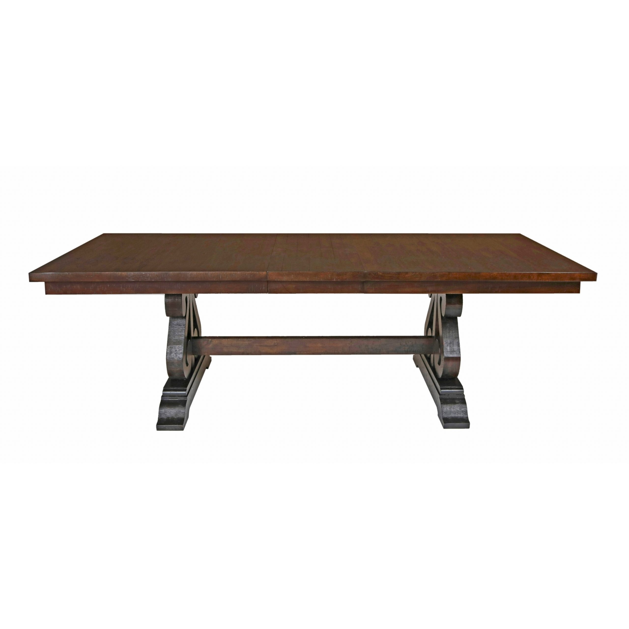 distressed trestle dining table