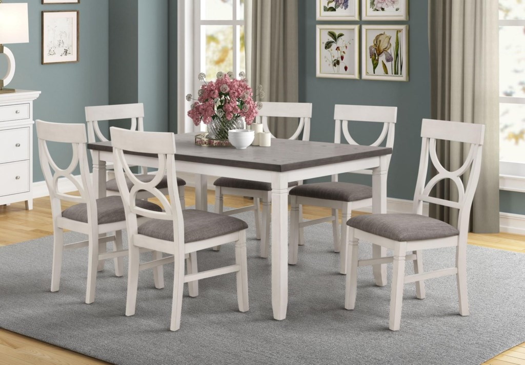 Lifestyle Laura Dining Table With 6 Chairs Royal Furniture Casual Dining Room Groups