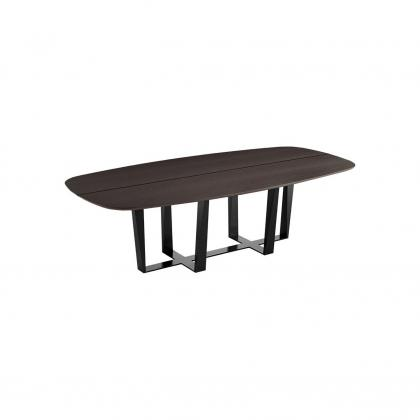 oval dining table with bench