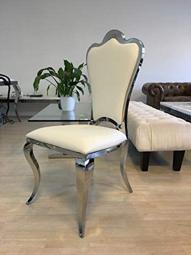 stainless steel dining room chairs