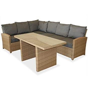 dining table and sofa set