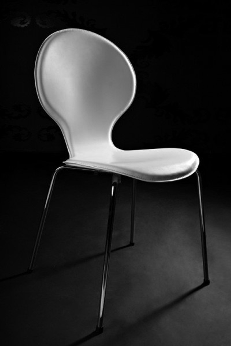 leather and metal dining room chairs