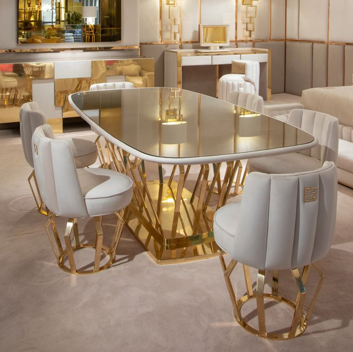material dining room chairs