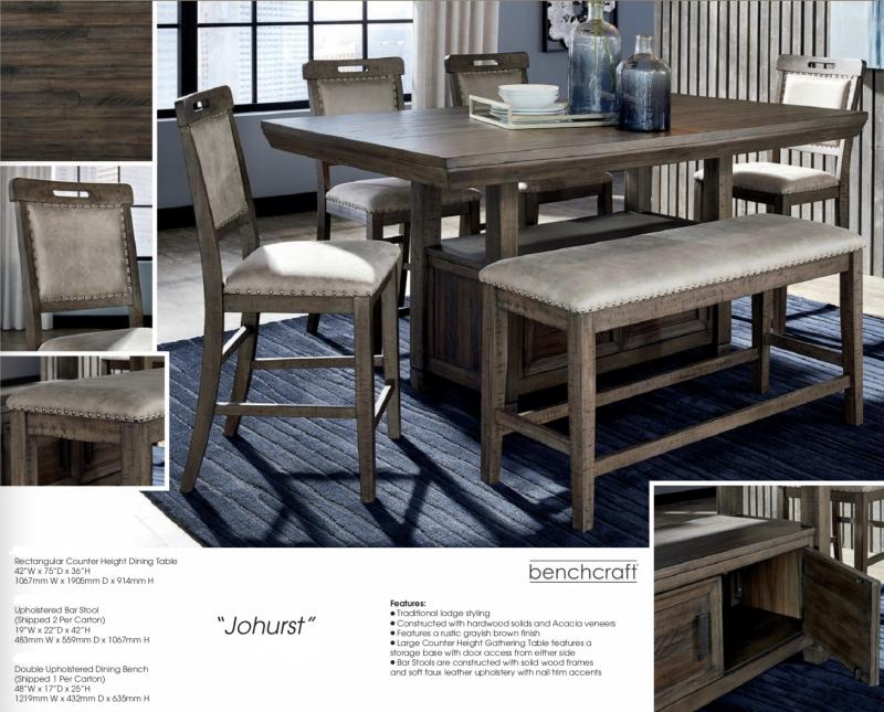 high top dining table with bench