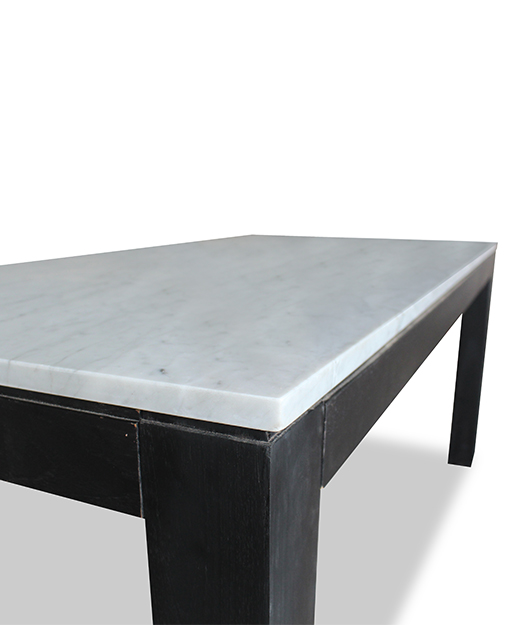 marble top dining table black legs