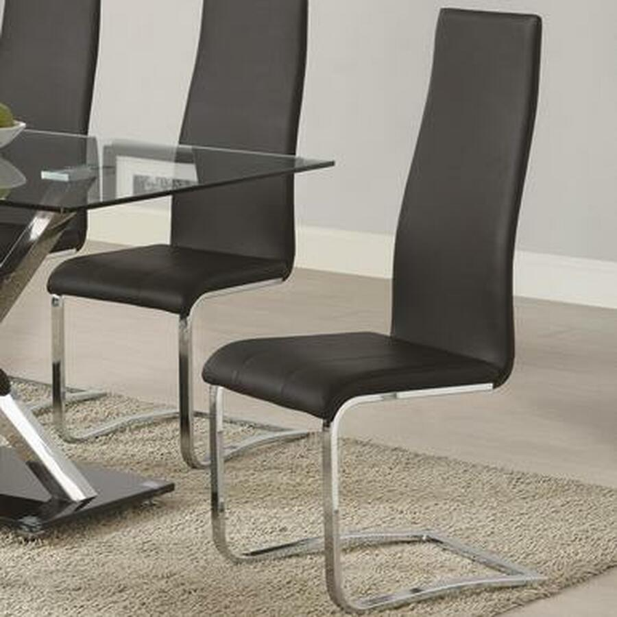 dining chairs chrome leather contemporary
