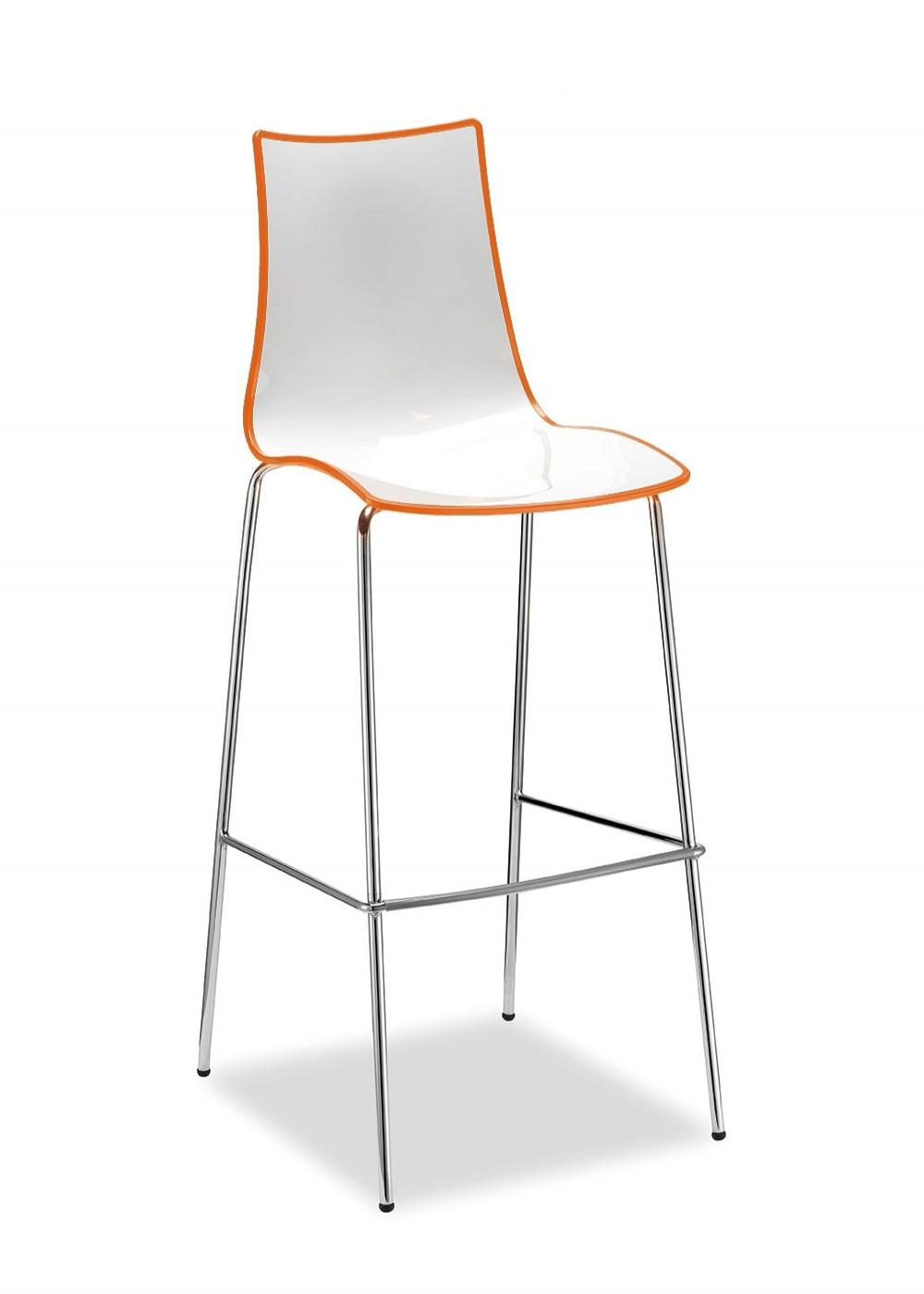 orange and white dining chairs